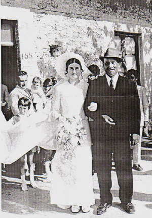 Mrs Lucia Merola De Leo with her father Angelo Merola